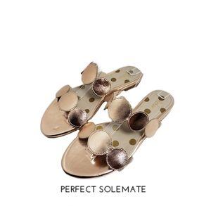 Boden Gold Open Toe Flat Sandals Sz 39